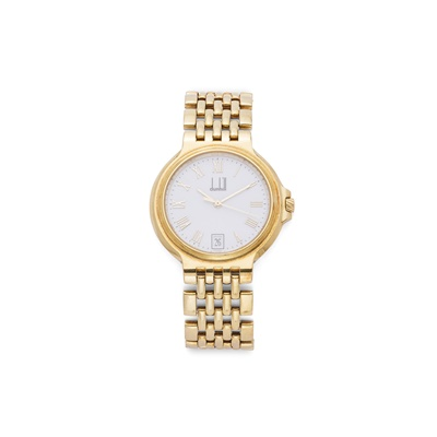 Lot 342A - An 18ct gold wristwatch, by Dunhill