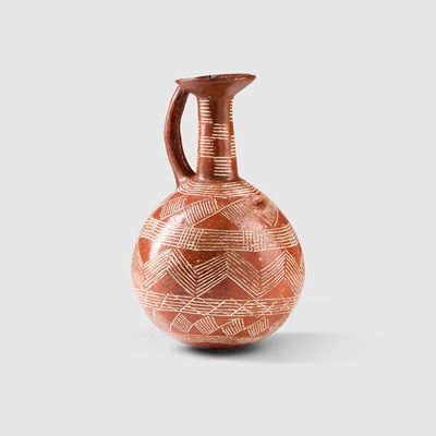 Lot 19 - ANCIENT CYPRIOT RED WARE JUG