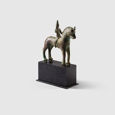 Lot 53 - SASANIAN HORSE AND RIDER