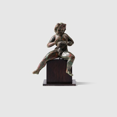 Lot 25 - HELLENISTIC FIGURE OF A SATYR