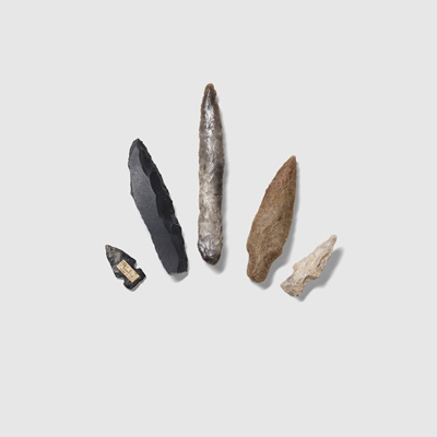 Lot 13-COLLECTION OF LITHICS