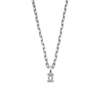 Lot 128 - A diamond-set 'Double C' pendant necklace, by Cartier