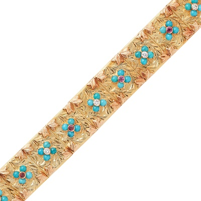 Lot 3-A multi-gem set bracelet