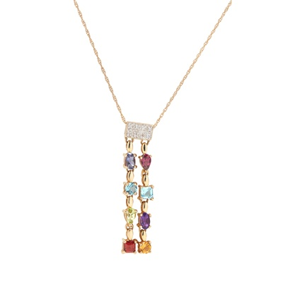 Lot 20-A multi-gem set pendant