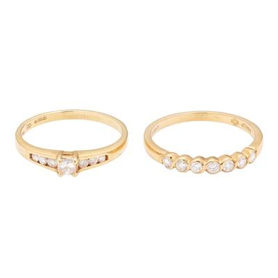 Lot 124 - Two diamond set rings