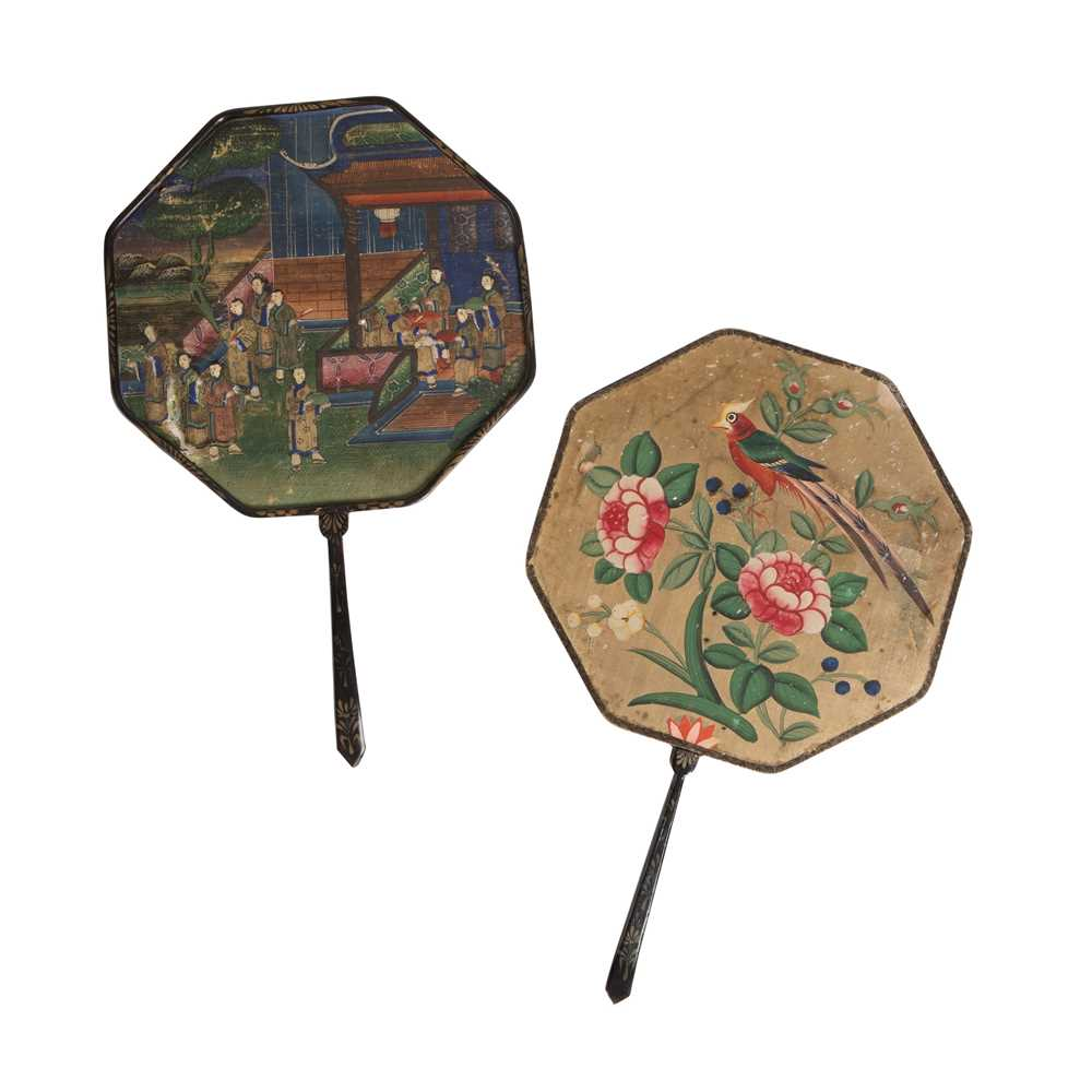 Lot 8-PAIR OF CHINESE FANS
