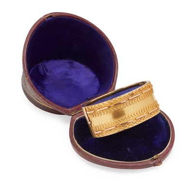 Lot 1-A Victorian hinged bangle