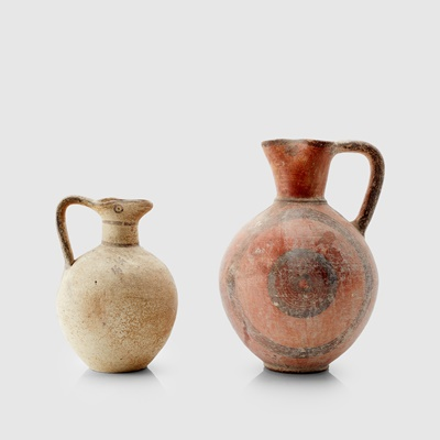 Lot 15-PAIR OF CYPRIOT VESSELS
