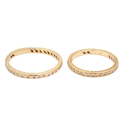 Lot 14-Two diamond set eternity rings