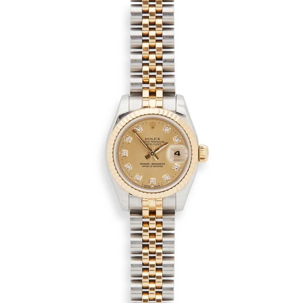 Lot 144 - Rolex: a lady's bi-colour wrist watch