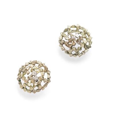 Lot 70 - A pair of earrings, 1960s