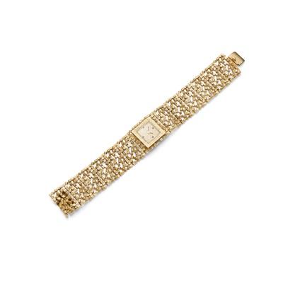Lot 71 - A lady's 18ct gold manual wristwatch, by John Donald, 1965