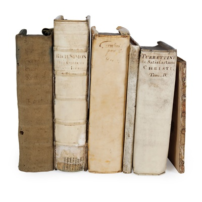 Lot 32-Continental Books, mainly vellum bound