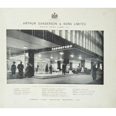 Lot 115 - SANDERSON & SONS, LTD