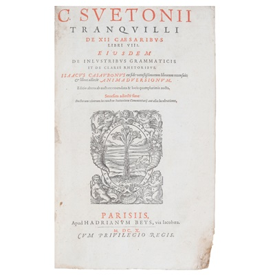 Lot 42-Suetonius Tranquillus, Caius.