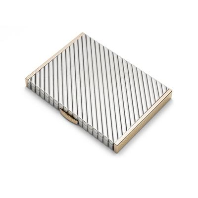 Lot 131 - A bi-metallic compact, by Cartier