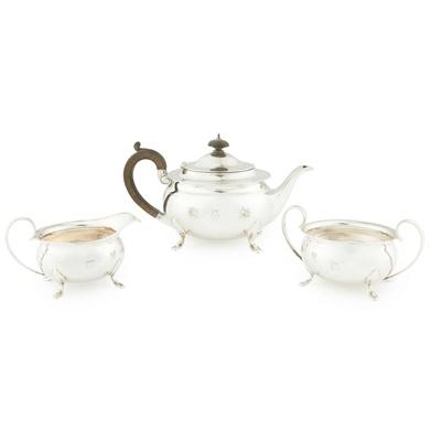 Lot 438 - A 1920s three piece tea service