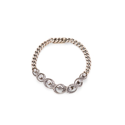 Lot 127 - A late 19th century diamond bracelet