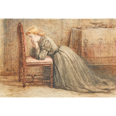 Lot 84 - GEORGE HENRY BOUGHTON (1833–1905)