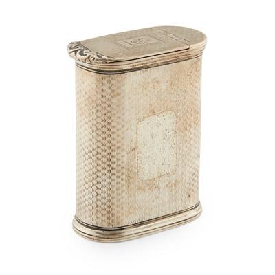 Lot 473 - A William IV snuff box