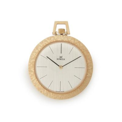Lot 364 - A gentleman's 18ct gold cased dress pocket watch, H. Y. Moser