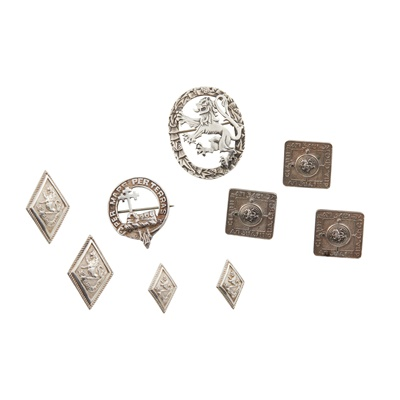 Lot 467 - A small collection of kilt jacket buttons