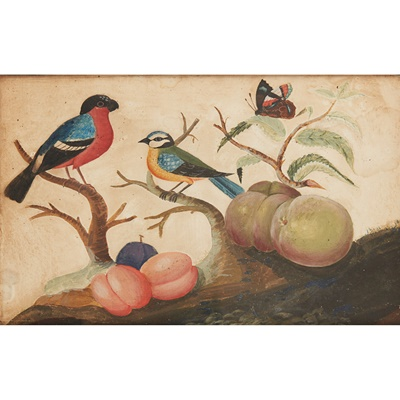 Lot 11 - GEORGE III IRISH EMBOSSED PAPER BIRD PICTURE, ATTRIBUTED TO SAMUEL DIXON