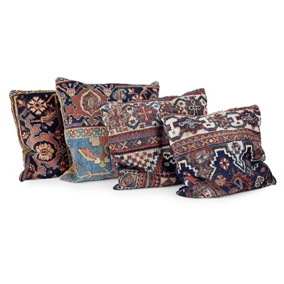 Lot 49 - GROUP OF KELIM AND TURKEY WORK SCATTER CUSHIONS