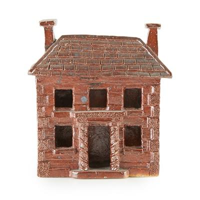 Lot 2 - SALT-GLAZED MODEL OF A HOUSE