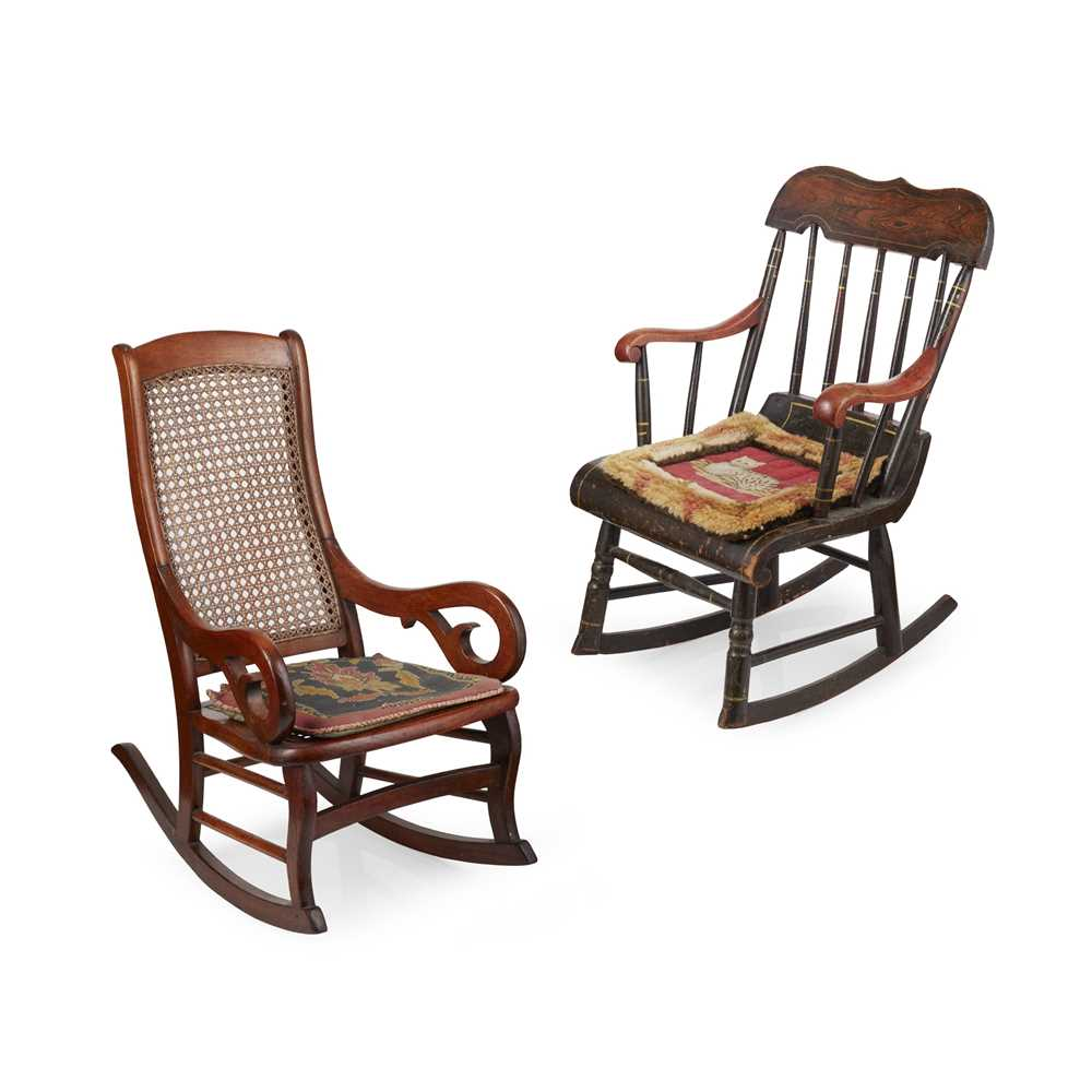 Lot 5 - TWO AMERICAN CHILD'S ROCKING CHAIRS