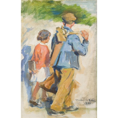 Lot 12-Stanhope Forbes R.A. (British 1857-1947)