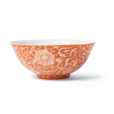 Lot 138 - IRON-RED RESERVE-DECORATED FLOWER BOWL