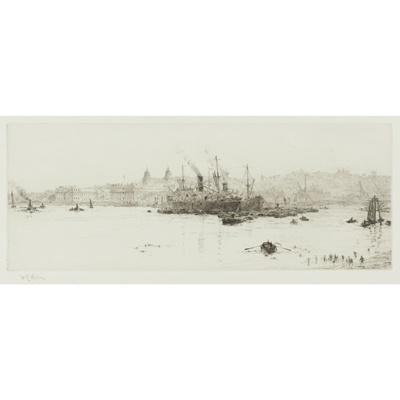 Lot 30-WILLIAM LIONEL WYLLIE R.A. (BRITISH 1851-1931)