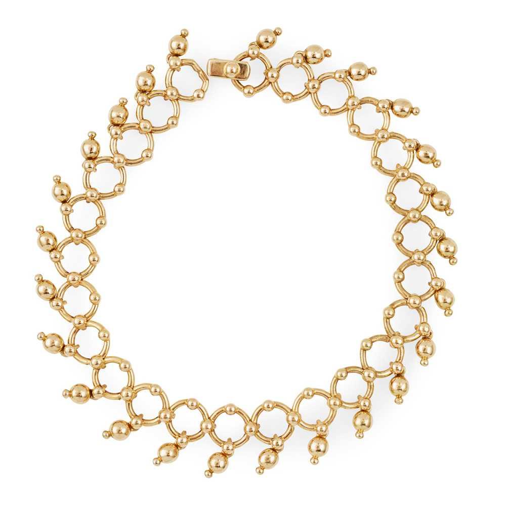 Lot 5-An 18ct gold bracelet, Tiffany & Co