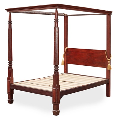 Lot 91 - GEORGE III MAHOGANY FOUR POSTER BED