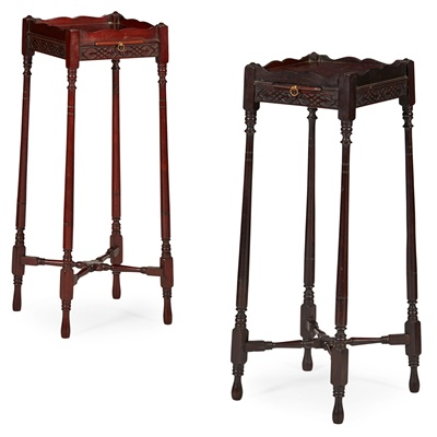Lot 89 - MATCHED PAIR OF EARLY GEORGE III WINE TABLES