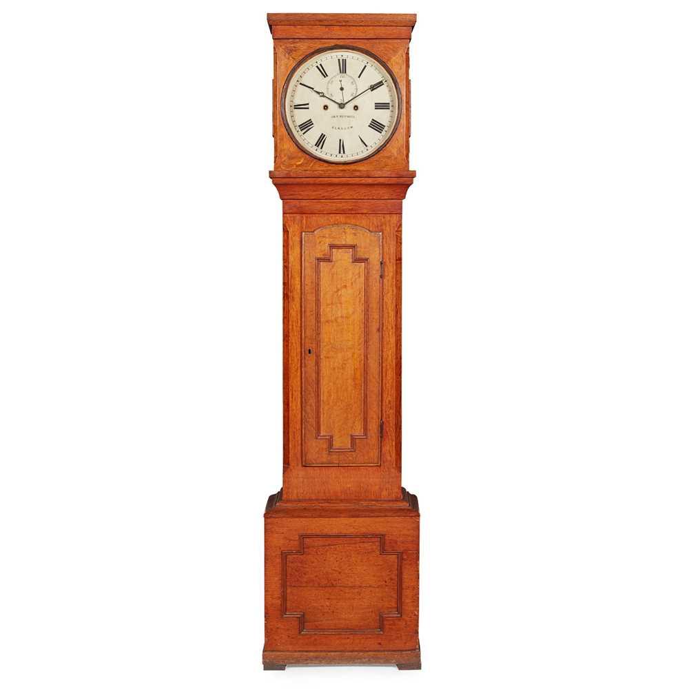 Lot 66 - SCOTTISH OAK LONGCASE CLOCK, J. & W. MITCHELL, GLASGOW