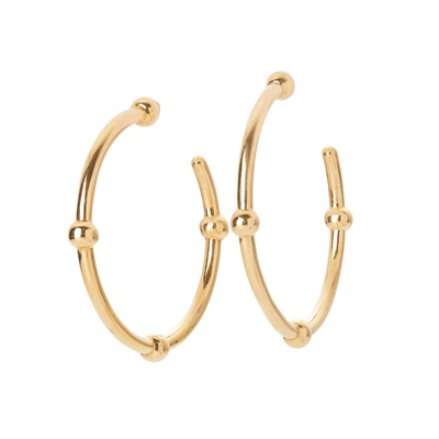 Lot 6-A pair of 18ct gold earrings, Tiffany & Co
