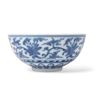 Lot 169 - BLUE AND WHITE 'FLORAL' BOWL