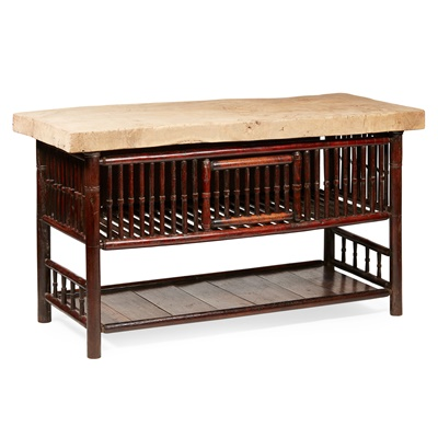 Lot 62 - FRENCH PROVINCIAL CHICKEN COOP TABLE
