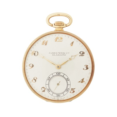 Lot 189 - Retailed by Weir of Glasgow: a gold  pocket watch