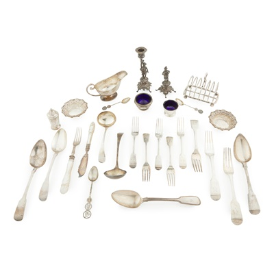 Lot 427 - A collection of silver