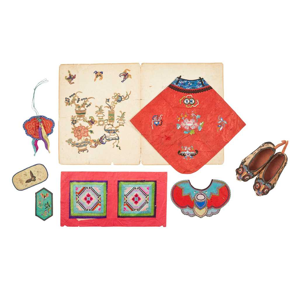 Lot 16-COLLECTION OF CHINESE EMBROIDERY