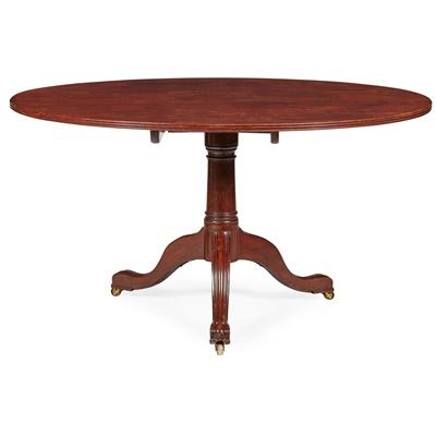 Lot 75 - GEORGE III MAHOGANY BREAKFAST TABLE