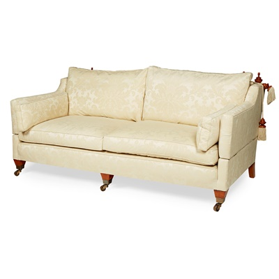Lot 34 - PAIR OF LARGE THREE SEATER KNOLE SOFAS