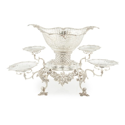 Lot 443 - An Edwardian table epergne