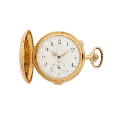 Lot 367 - An 18ct gold stop watch and repeater pocket watch, unsigned