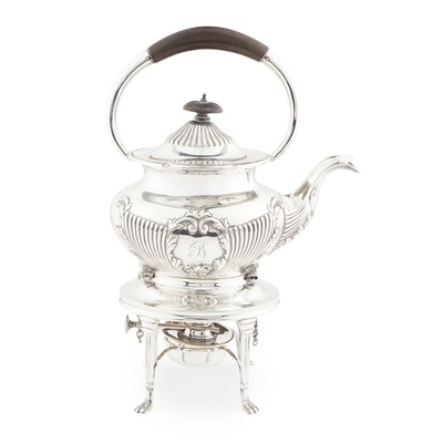 Lot 442 - A George V spirit kettle and stand