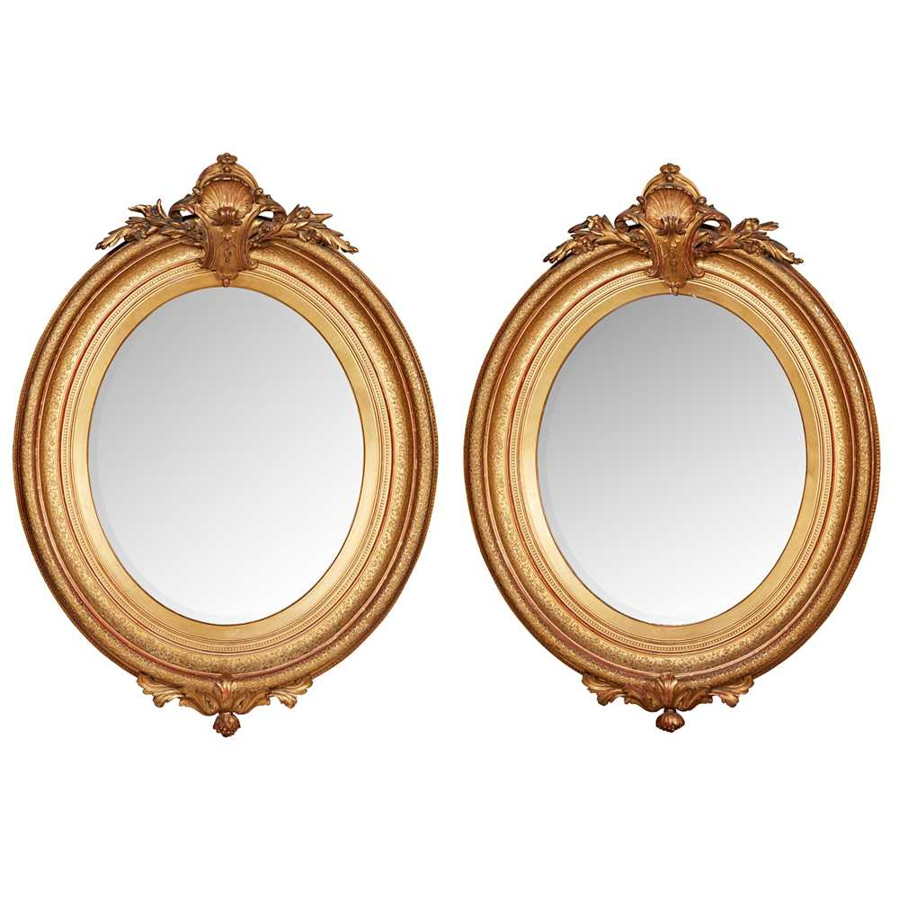 Lot 471 - PAIR OF GILTWOOD AND GESSO MIRRORS