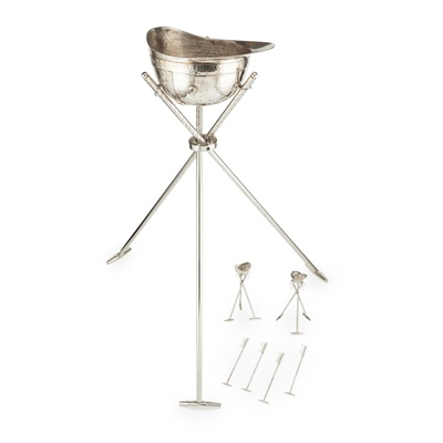 Lot 377 - An ice bucket and stand- Polo Interest